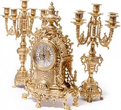Каминные часы - подарочный набор - фото darunok.ua