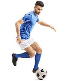Футболист на тренировке - фото darunok.ua