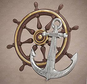Якорь и штурвал - символика моряков - фото darunok.ua