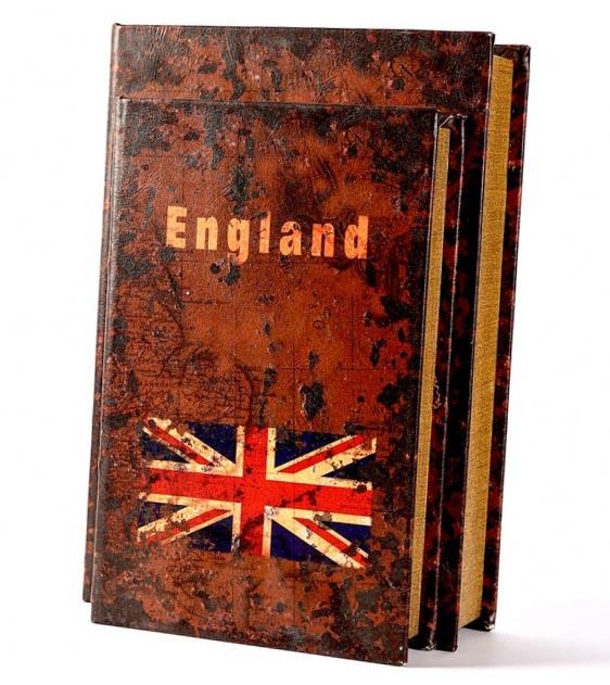 Набір книг шкатулок England 2 штуки - ідеальний сувенір вчителю літератури - фото інтернет-магазину darunok.ua