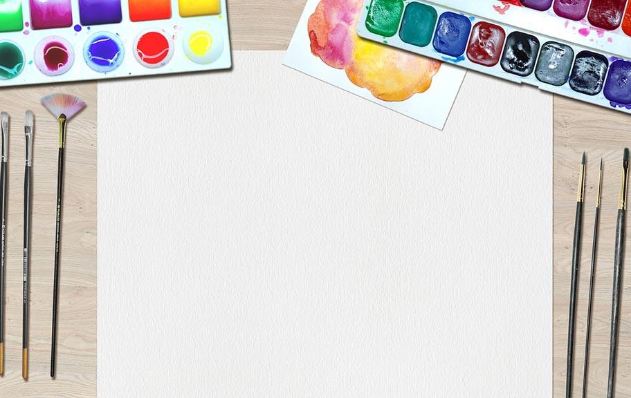 Лист бумаги и краски художника  - фото интернет-магазина darunok.ua