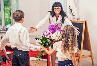 Поздравление учителя на 1 сентября - фото darunok.ua