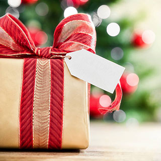 Подарунки на Різдво з оригінальною стрічкою - фото интернет-магазин darunok.ua