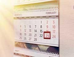 Дата 23 февраля на календаре - фото darunok.ua