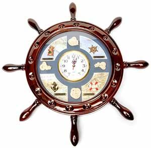 Настенные подарочные часы в морском стиле - фото darunok.ua