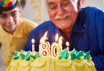 Праздничный торт на юбилей мужчины 80 лет - фото Дарунок