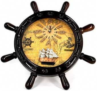 Необыкновенные часы в форме штурвала - фото Дарунок