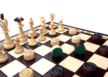 Оригінальний сувенір шашки - фото darunok.ua