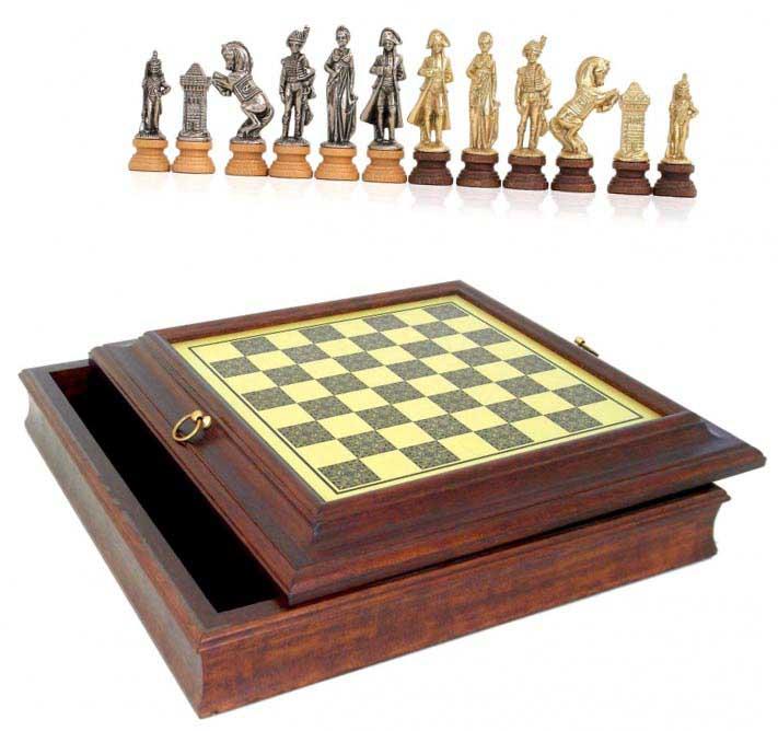 Шахи подарункові елітні Наполеон - гарний сувенір для податківця - фото Дарунок