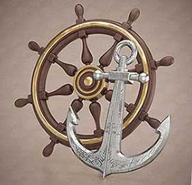 Якір і штурвал - символіка моряків - фото darunok.ua