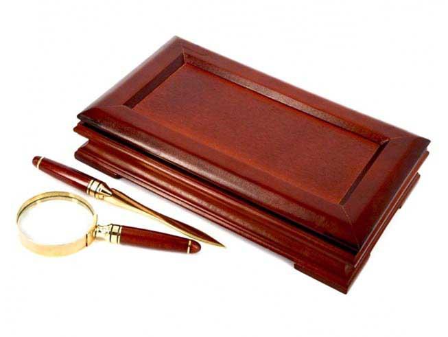 Набор лупа и нож для вскрывания конвертов - отличный сувенир - фото Дарунок