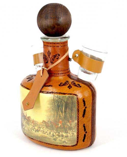 пляшка міні-бар з чарками - найпрекрасніший подарунок на знак вдячності - фото дарунок