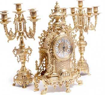 Элитныe каминные часы VIP уровня - фото darunok.ua