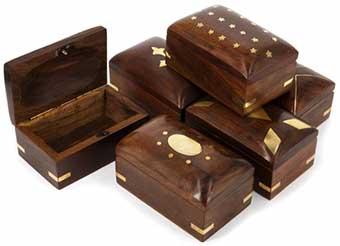 Набор шкатулок из дерева подарочный - фото Дарунок