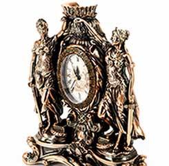 Статуэтка богини Правосудия Фемиды с часами - фото darunok.ua