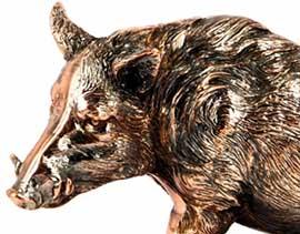 Фігурка лісової свині - прикраса інтер'єру - фото darunok.ua