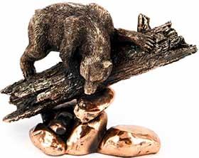 Статуэтка подарочная мишки на дереве - фото darunok.ua