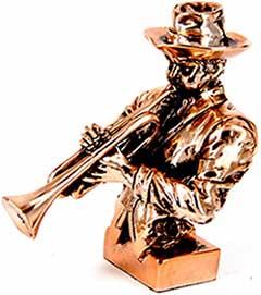Подарочная статуэтка трубача - фото darunok.ua