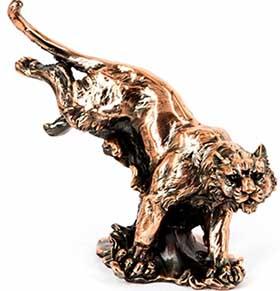 Подарочная статуя тигра в прыжке - фото Дарунок