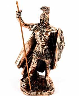 Подарочная фигурка македонского фалангиста с копьем - фото darunok.ua