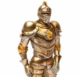 Декоративная фигурка рыцаря в доспехах - фото darunok.ua