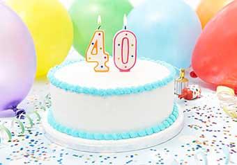 Торт на ювілей 40 років - фото darunok .ua