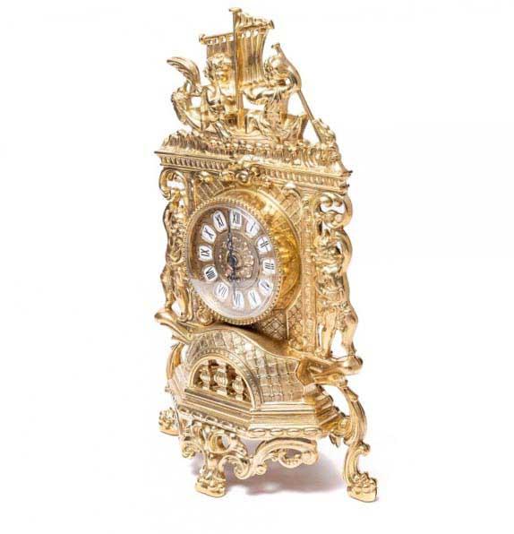 Каминные часы впечатляющий сувенир жене на юбилей - фото darunok.ua