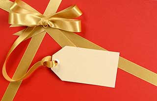 Бирка на упаковке для пожеланий Овну девушке - фото Дарунок